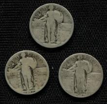 3 Standing Quarters