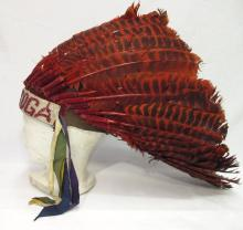 Bladed Indian Feather Head Dress