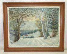 O/B of Snowy Landscape