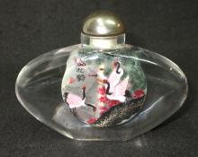 Lg. Reverse Painted Snuff Bottle