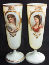 Pr. Bohemian Moser Portrait Vases