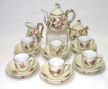 21pc H.P. China Child's Tea Set