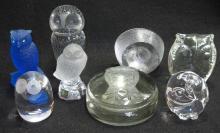 Lot Glass Owls Inc. Steuben