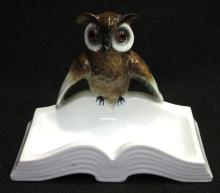 Germany Porcelain Owl Tray