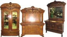 Ornate Oak 3pc BR Set