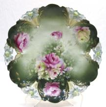 R.S. Prussia Floral Cake Plate