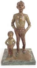 Bronze of Man & Boy