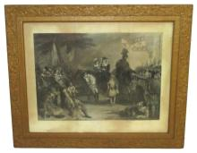 Lg. Etching of Army Scene