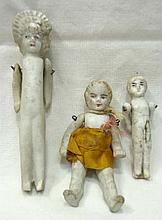 3 Japan Bisque Dolls