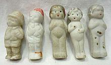 5 Japan Bisque Dolls