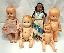 5 Hard Plastic Dolls