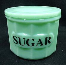 Jadeite Sugar Jar