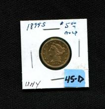 1899-S $5 Gold
