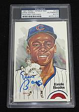 Ernie Banks Autographed Post Card