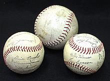 (2) 1960's Cardinals Facsimile Balls and Another