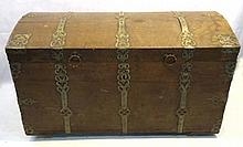 Ornate Iron Bound Trunk