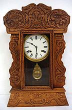 Oak Gingerbread Clock