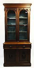Walnut Victorian 2pc Cabinet
