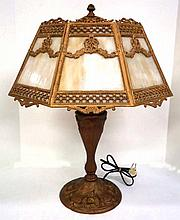 Caramel Slag Panel Lamp