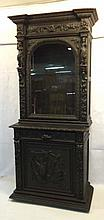 Heavily Carved Oak Cabinet