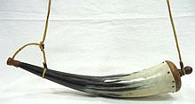 Powder Horn From Cow's Horn
