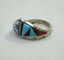 Sterling Inlaid Stone Ring