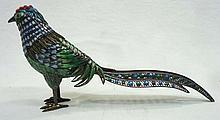 Oriental Silver Enamel Pheasant