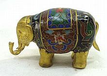Oriental Cloisonné Elephant