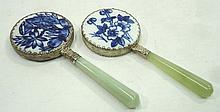 2- Oriental Hand Mirrors