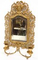 Cast Brass Wall Sconce Mirror