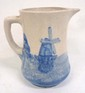 Blue & White Windmill Pitcher
