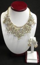 Elaborate Bridal D&E Juliana Bib Necklace Set