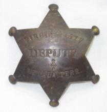 Brass Virginia City Deputy Badge