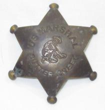 Brass Sutter Creek Marshal Badge