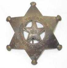 Brass Texas Ranger Badge