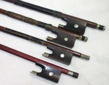 4 Old Violin Bows