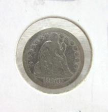 1850 Seated Dime