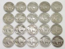20 Buffalo Nickels