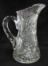 Am. Brilliant Cut Glass Tankard