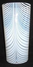 Opalescent Nailsea Vase