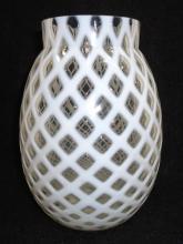Opalescent Basketweave Vase