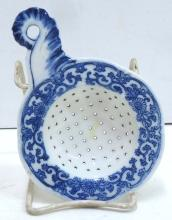 Blue & White Porcelain Tea Strainer