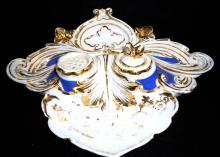 H.P. Porcelain Desk Set