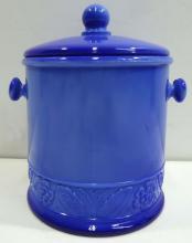 Blue Slap Biscuit Barrel