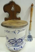 Blue Onion Salt Box & Spoon