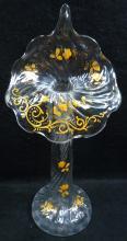 Blown Glass Enameled Jack in Pulpit Vase