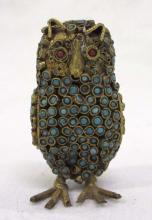 Oriental Owl w/ Inlaid Stones