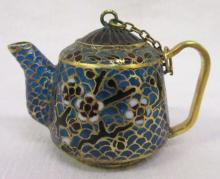 Oriental Plique a jour Miniature Tea Pot