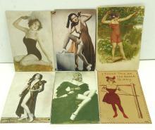 6 Pin Up Girlie Postcards
