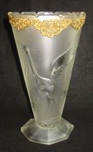 Stork Vase w/Ormolu